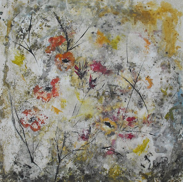Abstract Painting - Morning Mist by Ruth Palmer