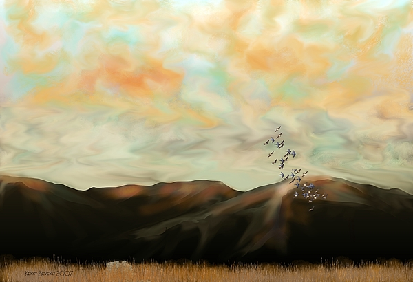 New Mexico Digital Art - Morning New Mexico II by Kerry Beverly