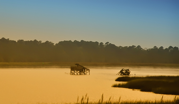 Jamestown Photograph - Morning On The Bay by Bill Cannon