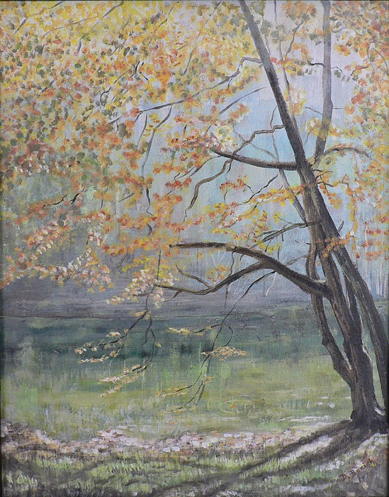 Pond Reflections Painting - Morning Solitude by Dan Bozich