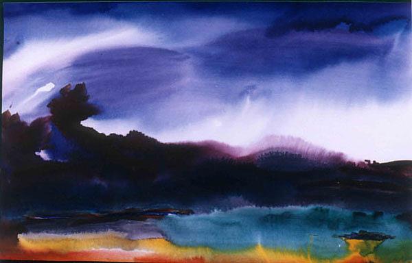 Nature Painting - Morning Star by Damodaran Moodriyil