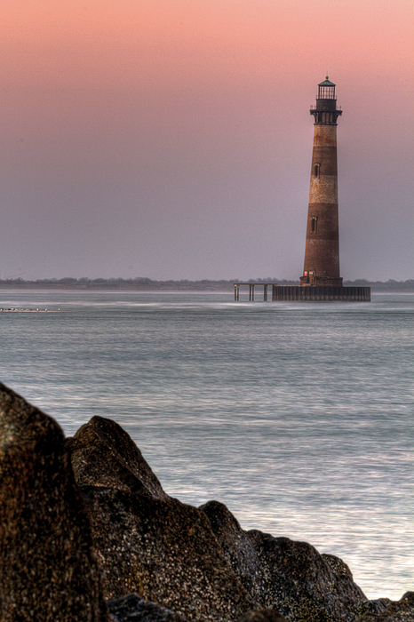 Lighthouse Photograph - Morris Island  by Drew Castelhano