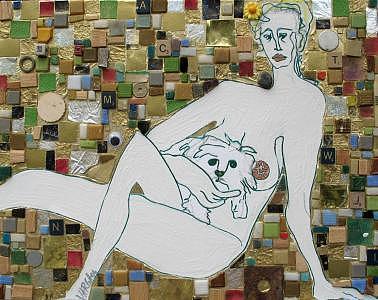 Mosaic Buddy And Su Mixed Media by Christina Varga