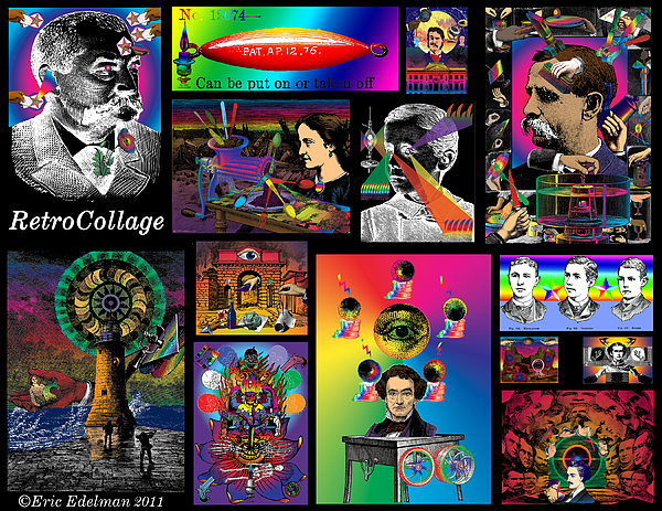 Mosaic Digital Art - Mosaic Of Retrocollage I by Eric Edelman