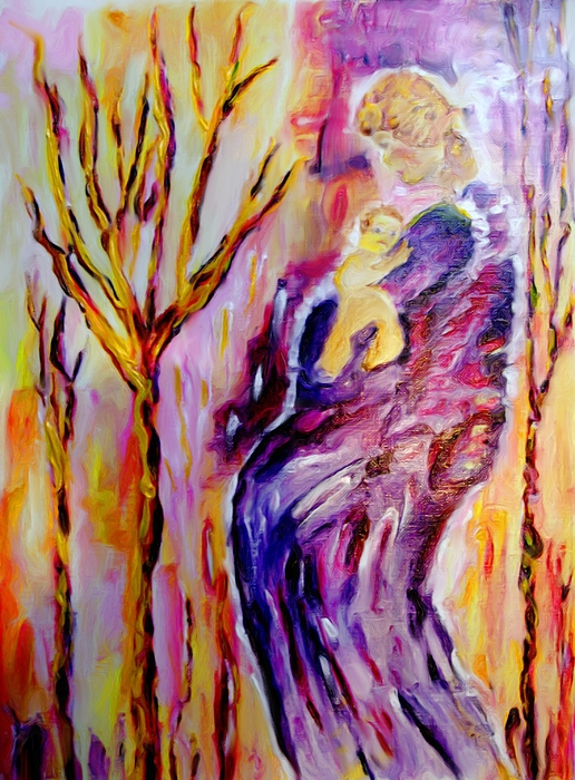 Female Painting - Mother And Child by Shelley Bain