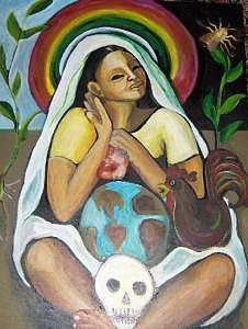 Mother Earth Painting - Mother Earth by Ruth Olivar Millan
