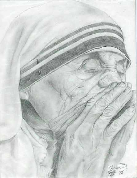 Mother Drawing by Jesska Hoff