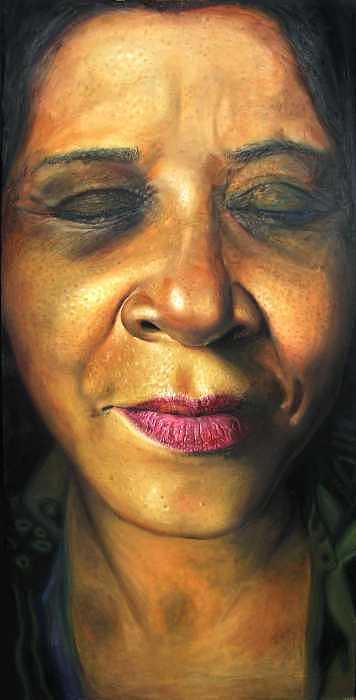 Portrait Painting - Mother by Kamalky Laureano