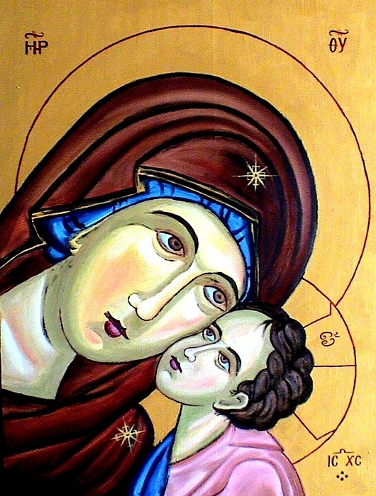 Ikon Painting Painting - Mother Mary by Murali