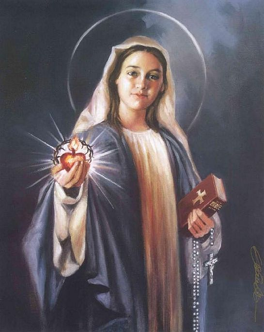 Virgin Mary Painting - Mother Of The Word - Virgin Mary by Mark Sanislo