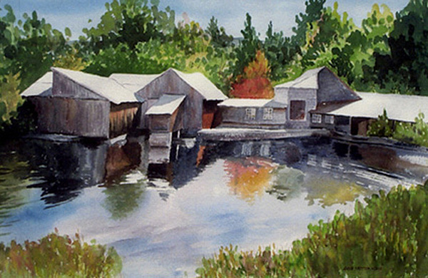 Landscape Print - Moultons Mill by Anne Trotter Hodge
