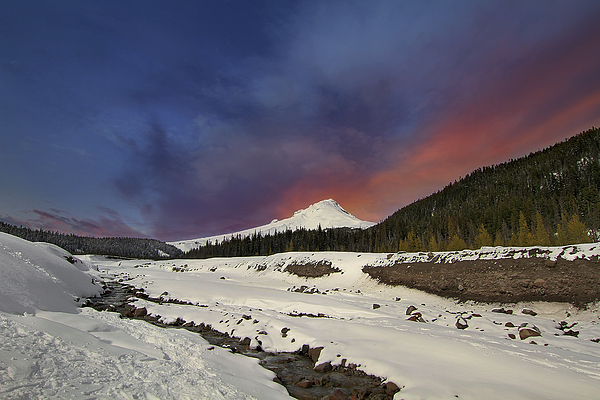 Mount Hood Photograph - Mount Hood Winter Wonderland by David Gn