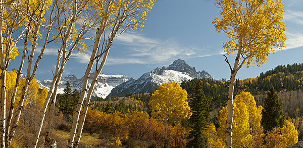 Rocky Mountain Photograph - Mount Sneffels Autumn Panorama by Dusty Demerson
