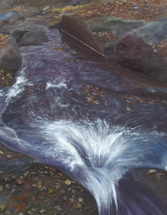 Landscape Painting - Mountain Brook by Laurel Ellis
