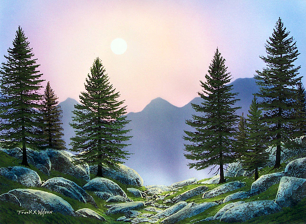 Landscape Painting - Mountain Firs by Frank Wilson