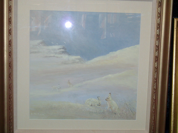 Landscape Painting - Mountain Hare In The... by Ken Boot