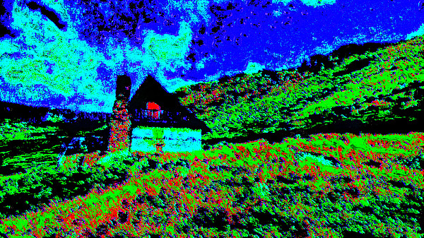 Mountain House Dd3 Digital Art by Modified Image