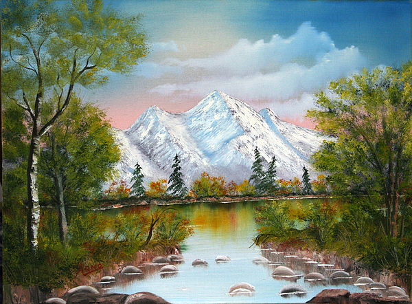 Mountains Painting - Mountain Lake by Arno Clabaugh