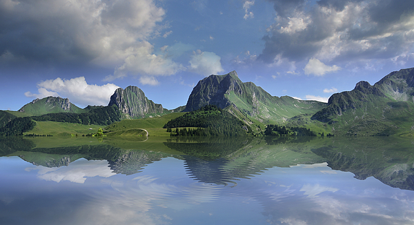 Mountain Photograph - Mountain Lake by Bruno Santoro