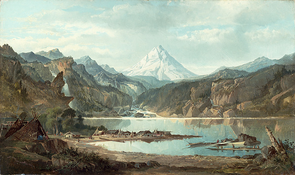 Mountain Painting - Mountain Landscape With Indians by John Mix Stanley