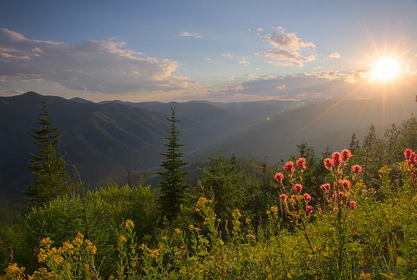 Idaho Scenic Images Linda Lantzy - Mountain Light