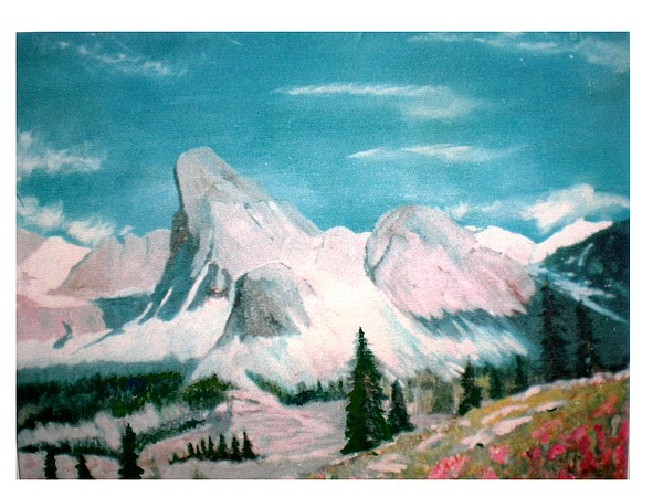Landscape Painting - Mountain Meadows by Hal Newhouser