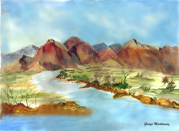 Mountain Range Print by George Markiewicz