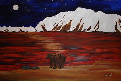 Mountain View Painting by Carol Plattner