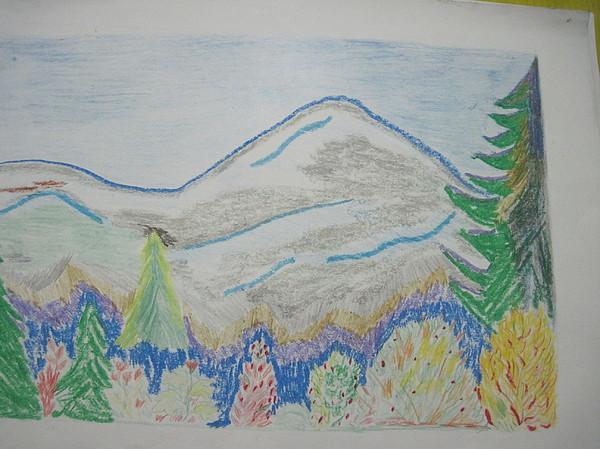 Mountain View Switzerland 1995 Drawing By Dr Loifer Vladimir