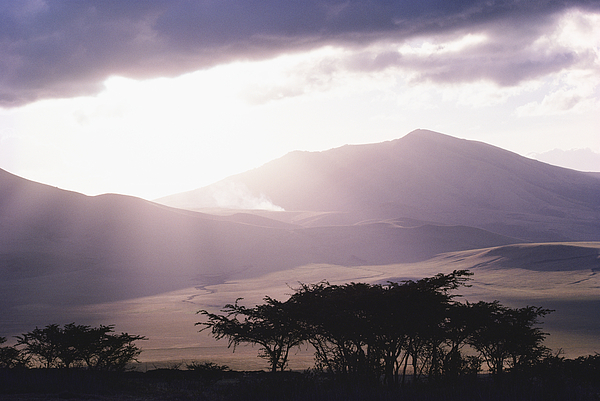 Africa Photograph - Mountains And Smoke, Ngorongoro Crater by Skip Brown