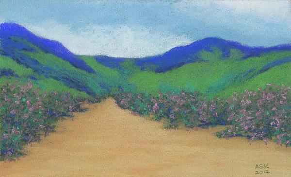 Mountains Pastel - Mountains At Moholoholo by Anne Katzeff