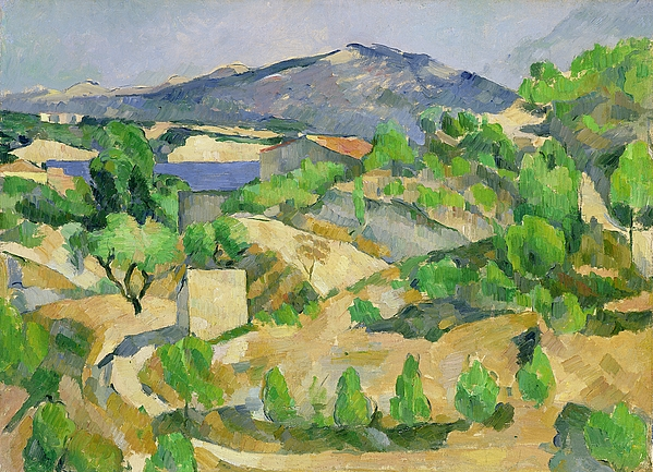 Mountains Painting - Mountains In Provence by Paul Cezanne