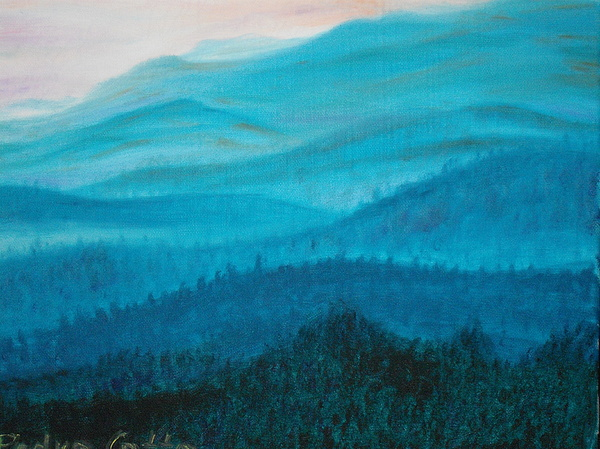 Mountains Painting - Mountains by Pedro Cotto