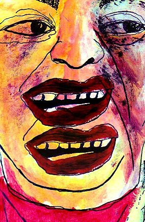 Portrait Painting - Mouth Almighty by Nicola-Jayne Seddon