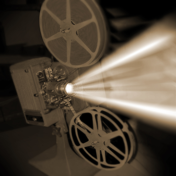 Vintage Photograph - Movie Projector  by Mike McGlothlen