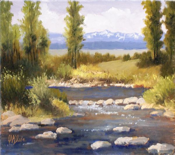 Landscape Painting - Moyie River by Dalas  Klein