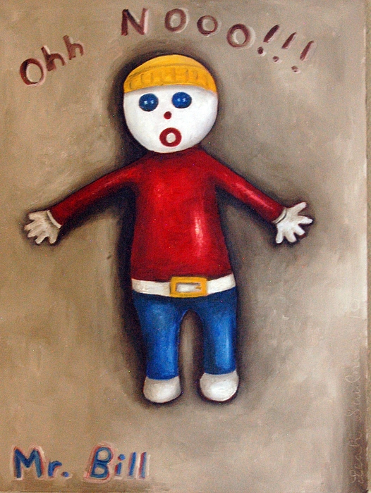 Mr.bill Painting - Mr. Bill by Leah Saulnier The Painting Maniac