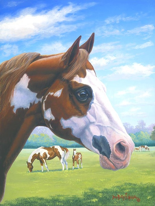 Paint Horse Painting - Mr. Norfleets Legacy by Howard Dubois