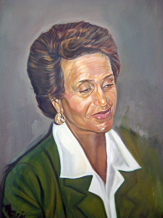 Portrait Painting - Mrs. Davis by Morris T Howard