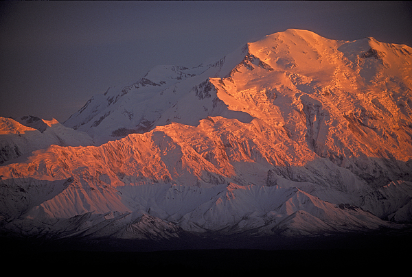 Denali National Park Photograph - Mt. Mckinley Sunset by Sandra Bronstein