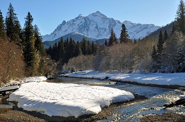 Mountains Photograph - Mt Shuksan  by Matthew Adair