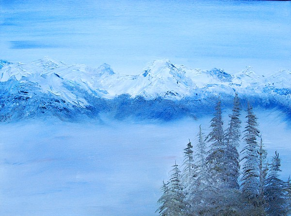 Mt. Whistler Canada  Painting by Tina Haeger