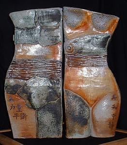 Yin Sculpture - Mu Gong And Xi Wang Mu by Nancy Pirri