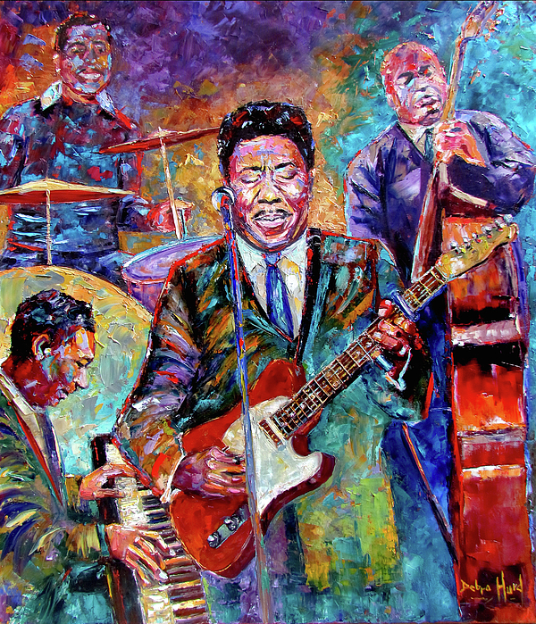 Muddy Waters Painting - Muddy Waters And His Band by Debra Hurd