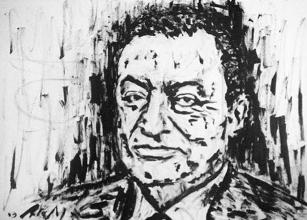 Muhammad Hosni Said Mubarak Egypt Painting by Alireza Mobtaker
