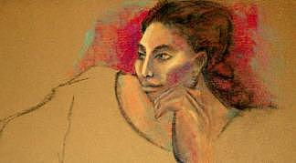 Mujer Con Colores Painting by Mary Louise Lopez