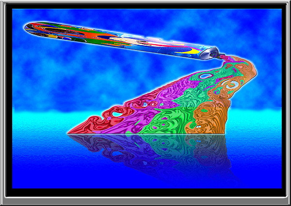 Paint Tube Digital Art - Multi Coloured Paint Tube by Peter Jenkins