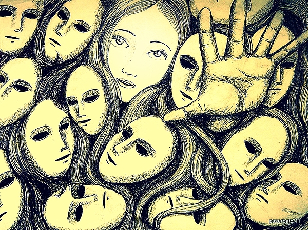 Multiple Personalities Digital Art - Multiple Personalities by Paulo Zerbato