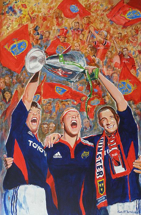 Munster Painting - Munster Heiniken Cup Winners 2008 by Tomas OMaoldomhnaigh