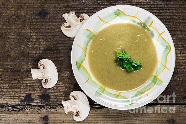 Appetizer Photograph - Mushroom Soup by Deyan Georgiev